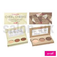 Barry M Chisel Cheeks Contour Kit - Contouring Palette Light / Medium / Dark