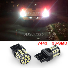 2x super bright 33 piece SMD LED 7443 7440 Tail Turn Signal Light White car Bulb