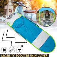 Universal Car Motor Scooter Blue Umbrella Mobility Sun Shade Rain Cover   &L