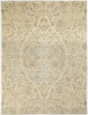 Traditional Hand Knotted Chobi Area Rug Beige Color 100% Wool Rugs Size (8 x 10)
