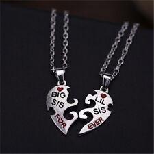Lil 2PC/Set Forever Little Heart Best Sister Sis Big Broken Heart Necklace