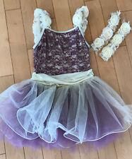 Kids Girls Jazz Ballet Dance Outfit Costume Sequins Mesh Dress Stage Dancewear