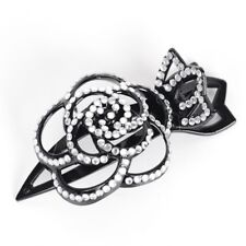 Women Flowers Diamante Crystal Plastic Duckbill Hair Clip Claws Comb Accessory