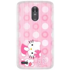 For LG Aristo Skin Case Cover Hello Kitty Pink Circle