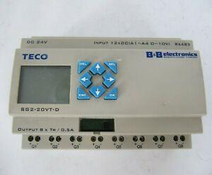 TECO PLC Programmable Logic Controller Processor 24V SG2-20VT-D