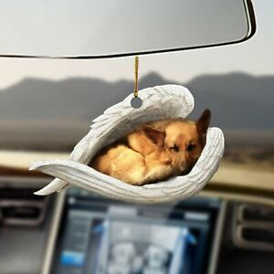 German Shepherd sleeping angel dogs lovers - Mica ornament - 3x3 inches