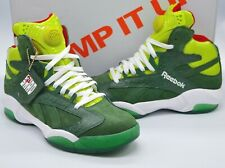 New Reebok Pump Shaq Attaq 1 Ghost of Christmas Present Green/White/Red Grinch