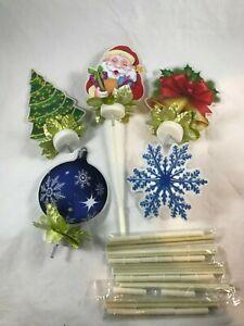 PVC Light Up Christmas Silhouette Window Decor 5 Xmas LED Lights Haptor