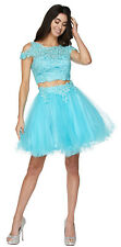COLD SHOULDER SHORT PROM DRESSES HOMECOMING TWO PIECE SEMI FORMAL COCKTAIL DANCE