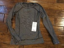 Lululemon Race Your Pace LS - HYEA / Hyper Stripe Angle Wing - Size 6