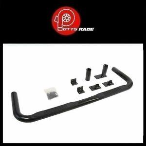 "Dee Zee For Chevrolet / Dodge 3"" Cab Length Black Round Nerf Bars- DZ3700291"