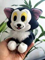 Disney Pinocchio Figaro Cat Lying Plush Stuffed Animal Black cat Toy