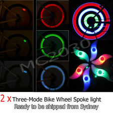 2 x 3-Mode Bike Bicycle Cycling Spoke Light Tire Tyre Wheel LED Multiple Colour