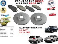 FOR KIA SORENTO II 2.0 2.2 CRDI 2.4 CVVT FRONT BRAKE DISCS SET + DISC PADS KIT