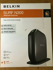 BELKIN SURF N300 WIRELESS N ROUTER - Easy Setup, Self-Healing, Preset Security