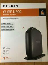 BELKIN SURF N300 WIRELESS N ROUTER - Easy Setup, Self-Healing, Preset Security
