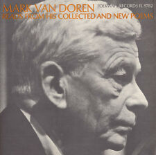 Mark Van Doren - Reads from His Collected and New Poems [New CD]