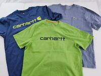 LOT OF 3 Carhartt Mens Cotton SHORT  Sleeve T Shirt Size Large