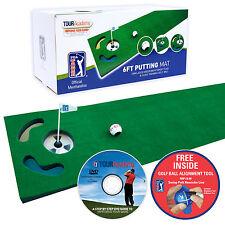 New PGA TOUR 6ft Golf Putting Mat - Practice Training Aid Indoor +Golf Ball +DVD