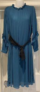 Zara Teal Pleated Crop Jumpsuit Size S BNWT