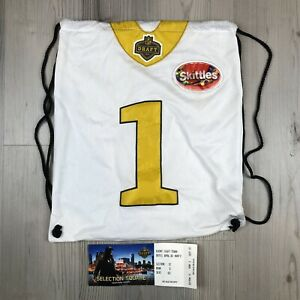 2015 NFL Draft Town Chicago Drawstring Bag Swag bag With Ticket Rare