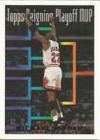 MICHAEL JORDAN Reigning Playoff MVP 1993-94 Topps GOLD CARD: #199 - Pack Fresh