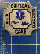 Critical Care Patch Air Ground Emergency Medical Technician EMT EMS Paramedic CC