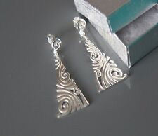 Sterling silver Pyramid Earring by Lepos Jewellery
