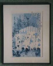 Framed 1970's LeRoy Neiman 16 1/2 x 20 1/2 Jazz Mobile Harlem Jazz Scene Poster