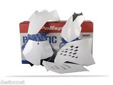 Kit plastiques Polisport  Couleur Blanc KTM SX 125 144 150 250 Année 2007-2010