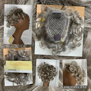 New! Paula Young Touch Of Class Mini Wiglet Hairpiece #56 Silver/Gray New/Tags!