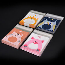 Hot Sale Animals Candy Biscuits Cookies Mini Packaging Bags Self-adhesive 100PCS