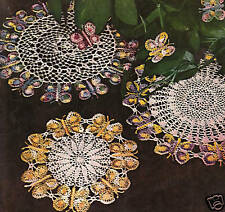Vintage Crochet PATTERN to make Butterfly Doily or Applique Motif 3 Designs