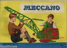 Vintage Meccano Constructional Toy Outfit No. 3 Instruction Book