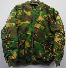 Mens Camo Camoflage MA1 Bomber Style Jacket Coat Woodland Green Black White