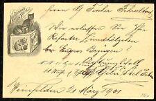 s1767d) Hoffmann´s épaisseur Ajout Chat privé-GA Nr 26 Type 3 Suisse 1901