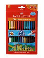 Grip Erasable Crayon Set Triangular Shape Plastic Crayons- Pack of 24 (Assorted)
