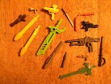 Lot of 15 VINTAGE ACTION FIGURE ACCESSORIES GI JOE GUNS WEAPONS tmnt sword