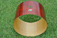 """1970's Ludwig USA 22"""" BASS DRUM SHELL in RED MAHOGANY for YOUR DRUM SET! #Z965"""