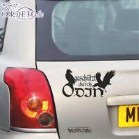 Wikinger Autoaufkleber - Geschützt durch Odin - Walhalla Aufkleber Auto Tattoo