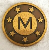 Vintage Matson Ship Line Brass M Dedication Of Los Angeles Terminal 1953 RARE!