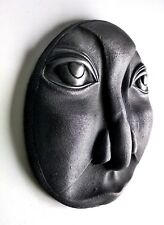 Moon Face Man Iron Wall Mount Art Sculpture Relief Home Room Decor Medalion Gift