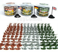 303 pcs Military Plastic Toy Soldiers Army Men 1:72 Figures 12 Poses in 3 Boxes