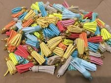 10Pcs Mix Colorful Velvet Tassel Pendants Trimming DIY Craft Embellishment 3.8cm