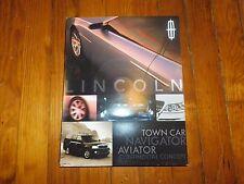 2002 LINCOLN TOWN CAR NAVIGATOR AVIATOR CONTINENTAL CONCEPT CAR PRESS KIT
