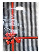 NEU 100 Plastiktüten Tragetaschen Einkaufstüten im Geschenk Look 34x25cm TOP