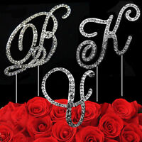 Fancy Diamante Rhinestone Letter A-Z AND & Cake Toppers UK