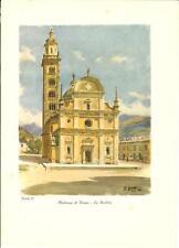 Stampa antica MADONNA DI TIRANO Santuario Valtellina Sondrio 1934 Old print
