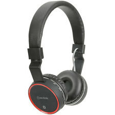 AV LINK BLUETOOTH CORDLESS HEADPHONES with MICRO SD SLOT and FM RADIO - BLACK