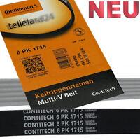 1x Continental Keilrippenriemen 6PK1715 Rip Belt  Opel Astra 1,7 CDTI NUR Klima